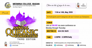 Medmina College, Ibadan 3rd Annual Quran Recitation Competition
