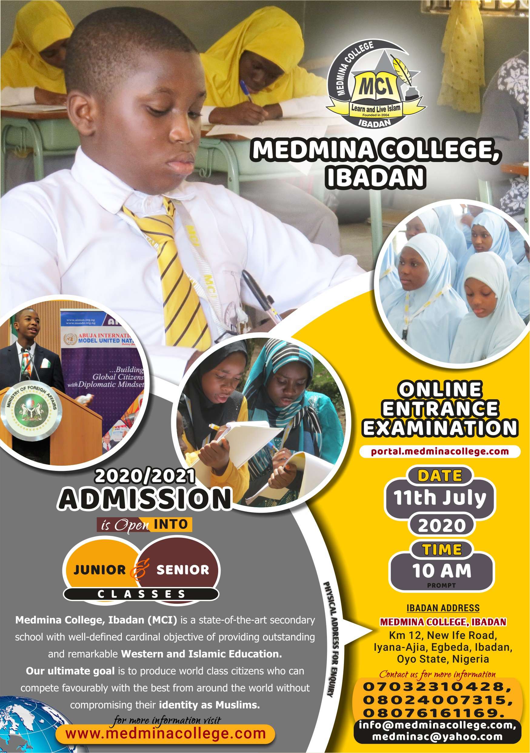 2020/2021 Online Entrance Examination for Admission